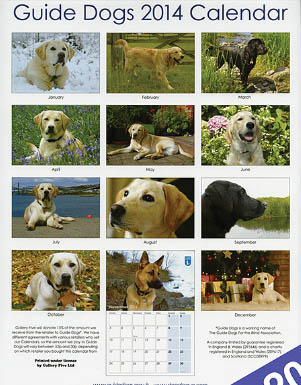 DOG and PUPPY GUIDE CALENDARS