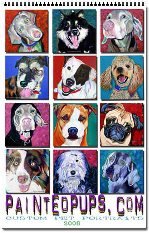 DOG and PUPPY ART CALENDARS