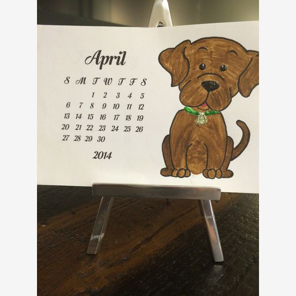 FREE PRINTABLE DOG and PUPPY CALENDARS