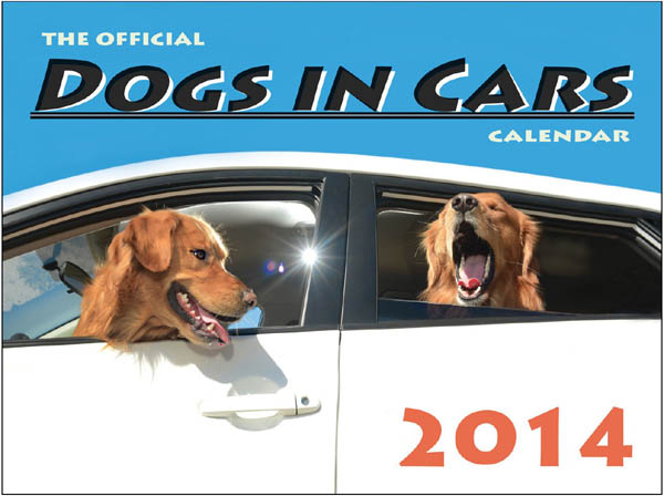DOG and PUPPY IN CAR CALENDARS