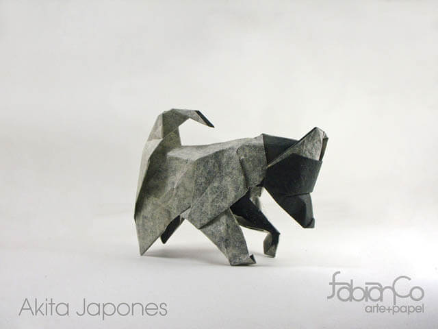 How to make Easy and Advanced Origami Puppy & Dogs, Japanese Folding Face Dog & Puppy Origami - This origami & image (c) by Fabian Correa