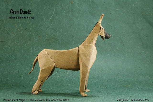 How to make Easy and Advanced Origami Puppy & Dogs, Japanese Folding Face Dog & Puppy Origami - This origami & image (c) by