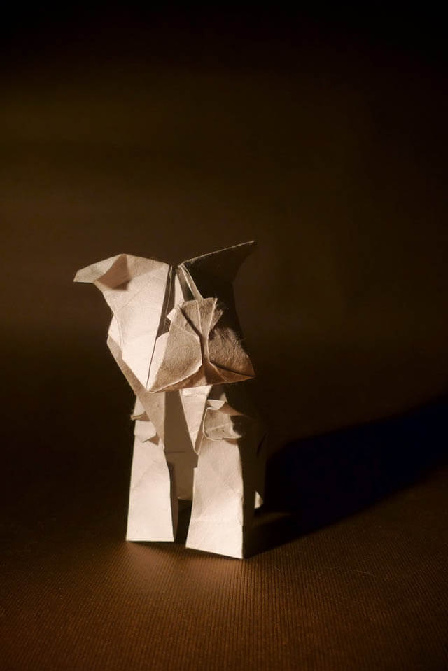 How to make Easy and Advanced Origami Puppy & Dogs, Japanese Folding Face Dog & Puppy Origami - This origami & image (c) by Blanka P (blunek)
