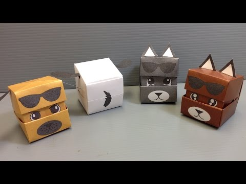 DOG, PUPPY ORIGAMI VIDEO, PICTURES, PHOTOS, INSTRUCTIONS