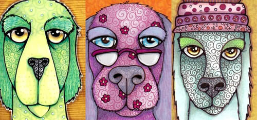 ART CARD DOG DRAWING PROJECT (c) by Cindy Dauer