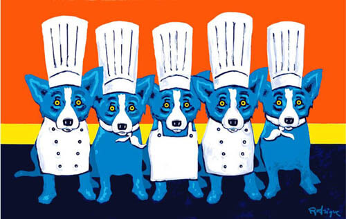 DOG ART, DRAWINGS, PAINT by George Rodrigue