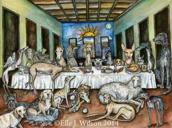 DOG ART by Elle J. Wilson