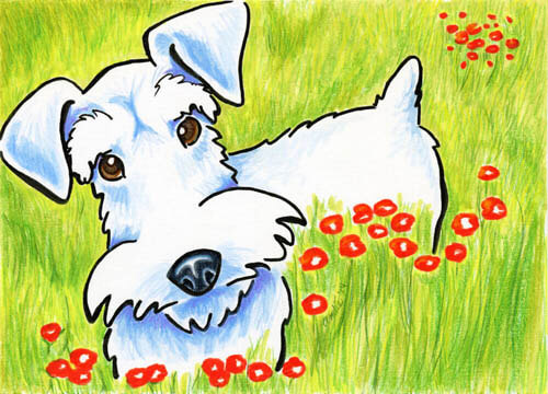 DOG ART, DRAWINGS, PAINT by Andie
