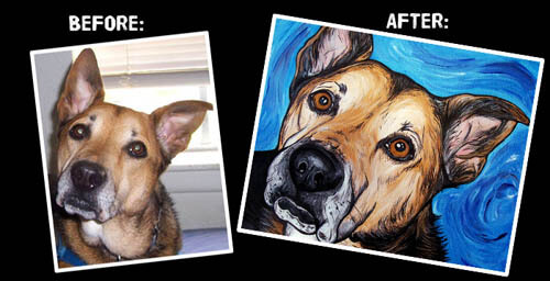 DOG ART, DRAWINGS, PAINT by STEPH FITZSIMMONS