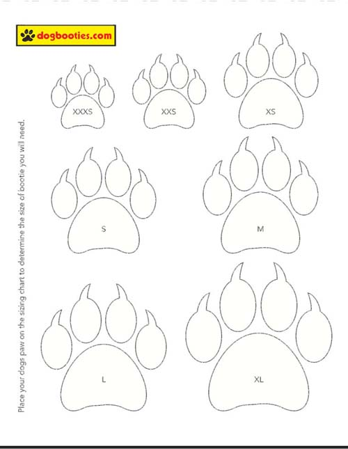 DOG BOOTS SIZE, PUPPY BOOTS SIZE, DOG BOOTS SIZE CHART, DOG BOOTS SIZE MEASURE CALCULATOR