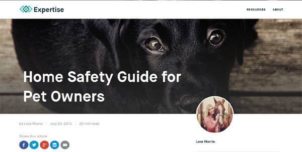 HOME SAFETY GUIDE FOR PET OWNERS by EXPERTISE.COM