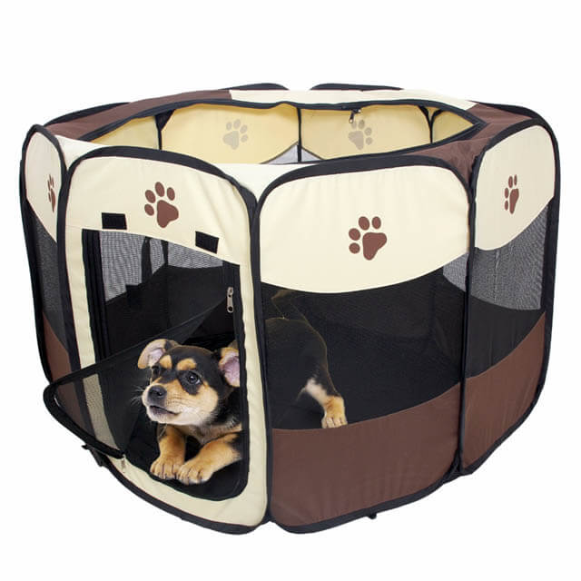 SOFT-SIDED COLLAPSABLE DOG & PUPPY CRATES
