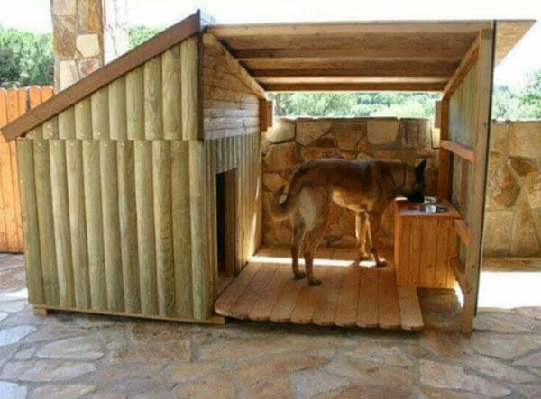 DIY Wooden Doghouse - BEST OUTDOOR DOG & PUPPY HOUSES, KENNELS, CAGES, CRATES, IGLOOS, HOMEMADE AND DIY DOGHOUSES