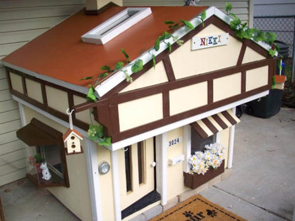 Dalmatian's Tudor-Style Chalet - CREATIVE DESIGNER DOG & PUPPY HOUSES, KENNELS