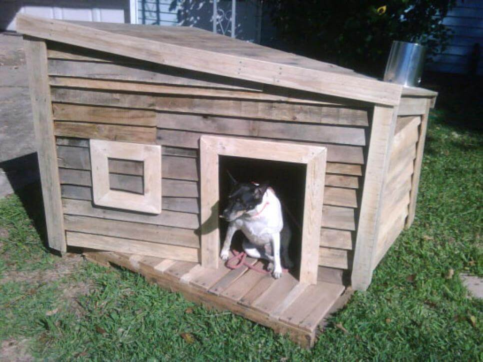 Recycled Shipping-Pallet Home - CREATIVE DESIGNER DOG & PUPPY HOUSES, KENNELS