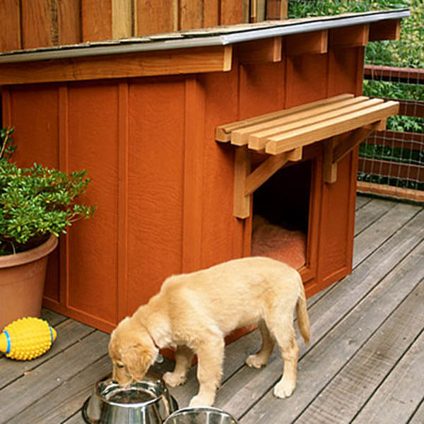 Backyard Doghouse - BEST OUTDOOR DOG & PUPPY HOUSES, KENNELS, CAGES, CRATES, IGLOOS, HOMEMADE AND DIY DOGHOUSES