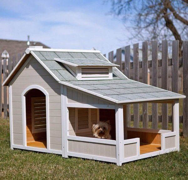 Custom Outdoor Doghouse - BEST OUTDOOR DOG & PUPPY HOUSES, KENNELS, CAGES, CRATES, IGLOOS, HOMEMADE AND DIY DOGHOUSES