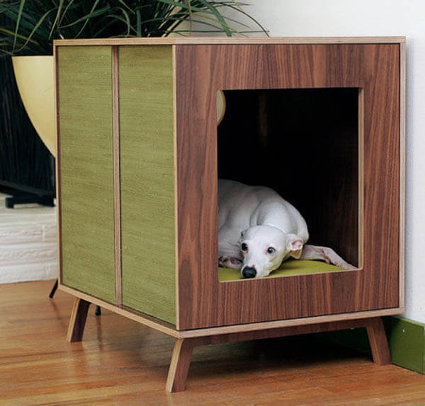 INDOOR DOG & PUPPY HOUSES, KENNELS, CAGES, CRATES, IGLOOS, BUILT-IN - HOMEMADE - DIY DOGHOUSE