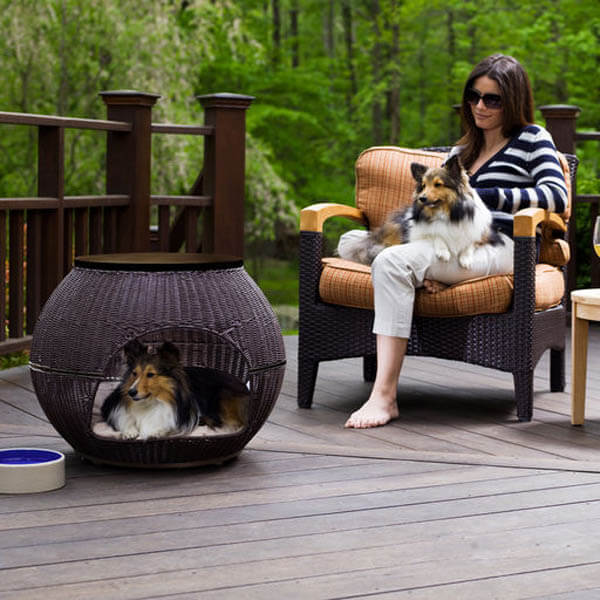 Stylish Outdoor Doghouse - BEST OUTDOOR DOG & PUPPY HOUSES, KENNELS, CAGES, CRATES, IGLOOS, HOMEMADE AND DIY DOGHOUSES