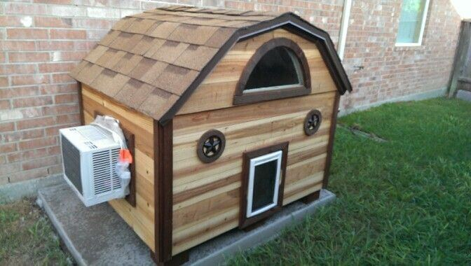 DOGHOUSE VENTILATION AND HEATING, HIGH-TECH, MODERN AIR CONDITIONER A/C DOGHOUSES