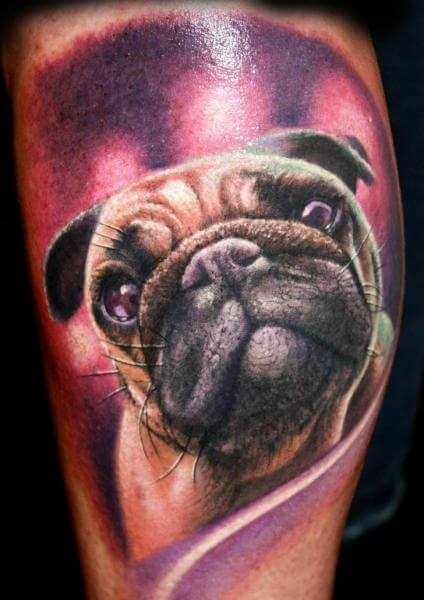 DOG TATTOO DESIGNS - AMAZING, STUNNING, WONDERFUL, 3D, COLORIFIC, ART, PORTRAITS, INK, PERMANENT, DOG TATTOOS FOR MAN & WOMAN