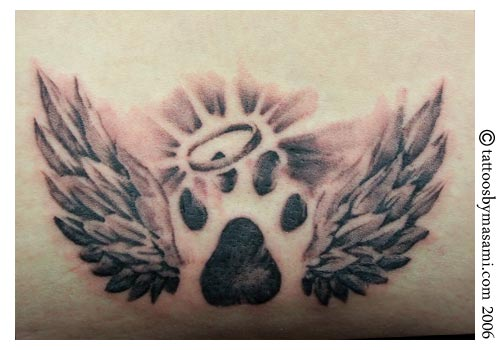 BEST PAW DOG TATTOO DESIGNS