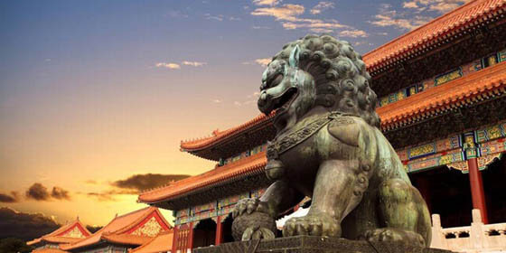 THE FORBIDDEN CITY IN BEJING, CHINA - FOO DOGS & LIONS HISTORY and ROOTS