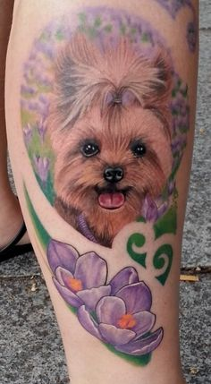DOG TATTOO DESIGNS and IDEAS - AMAZING, STUNNING, WONDERFUL, 3D, COLORIFIC, ART, PORTRAITS, INK, PERMANENT, DOG TATTOOS FOR MAN & WOMAN