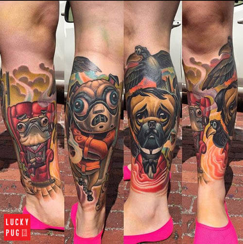 BEST PUG DOG TATTOO DESIGNS