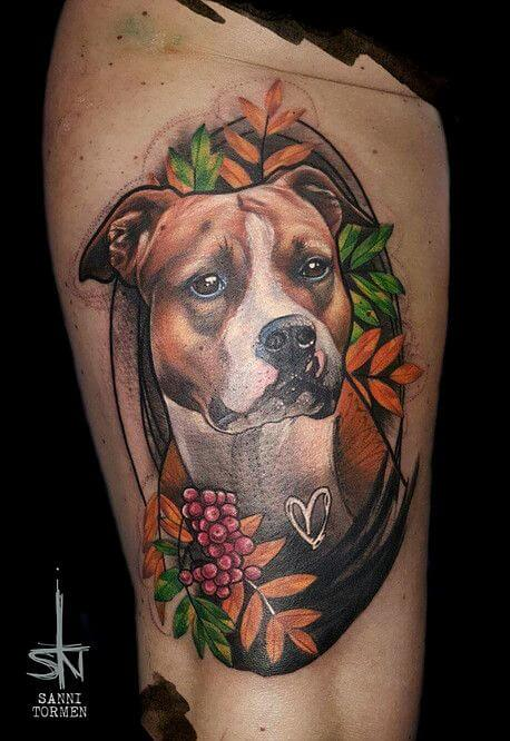 BEST PORTRAIT DOG TATTOO DESIGNS