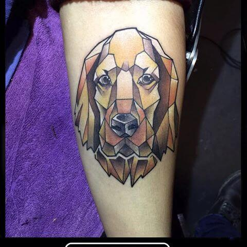 BEST GEOMETRIC DOG & PUPPY TATTOO DESIGNS