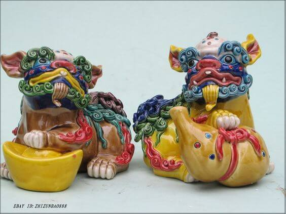 CHINESE & JAPANESE FOO DOGS & LIONS