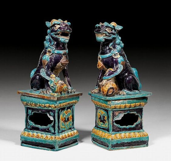 PAIR OF FOO DOG