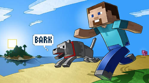 Free Download Minecraft Dog Army, Build