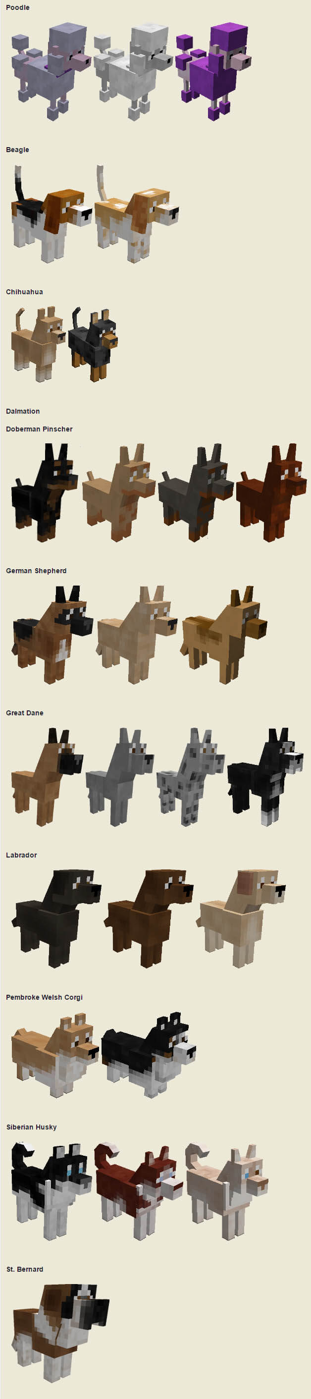 Minecraft Dogs And Cats Mod