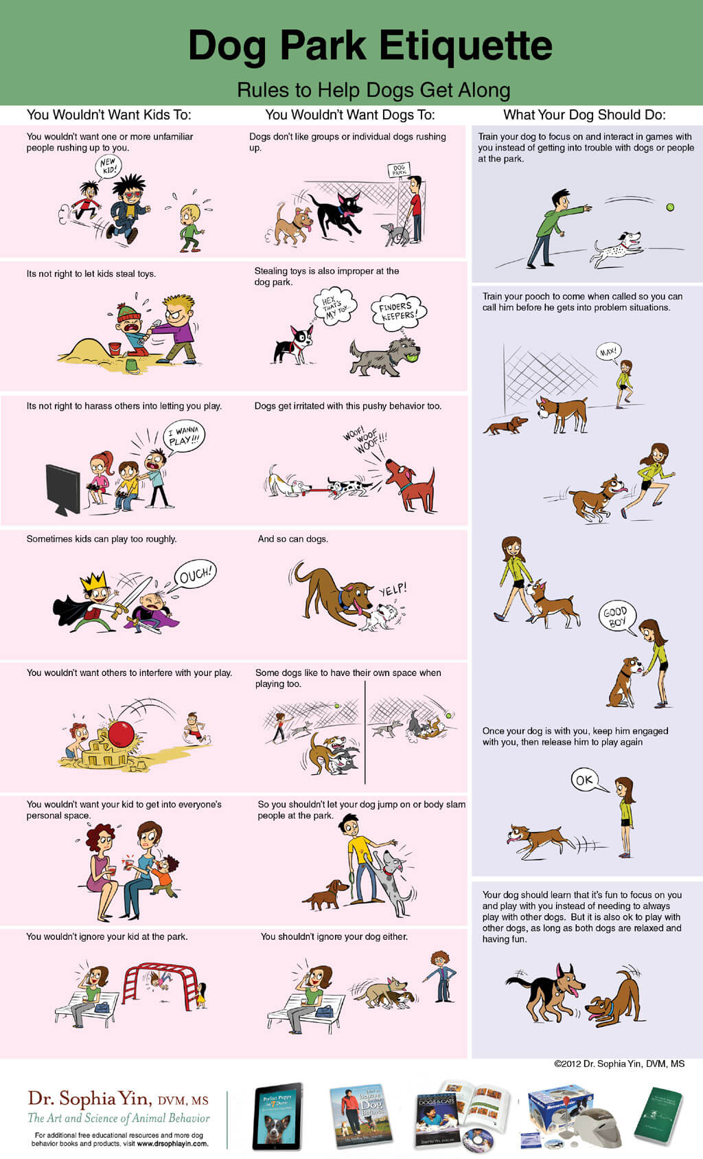 DOG PARK RULES - INFOGRAM, PRESS TO SEE IN FULL SIZE!