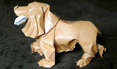 Dog and Puppy Origami Tutorials, Photos, How to make origami dog and puppy