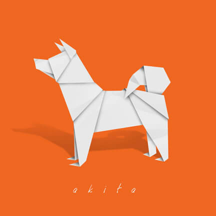 Dog and Puppy Origami Logo Design