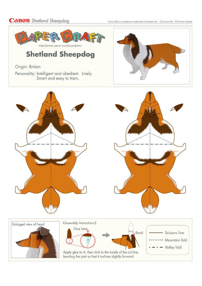 Как сделать из бумаги животных схемы