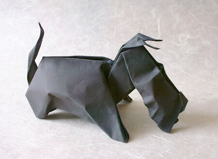 Aberdeen by Eric Joisel (Press to Buy online this Origami Dog Template)