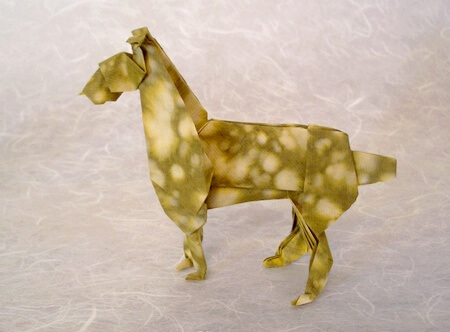 Boxer by John Montroll (Press to Buy online this Origami Dog Template)