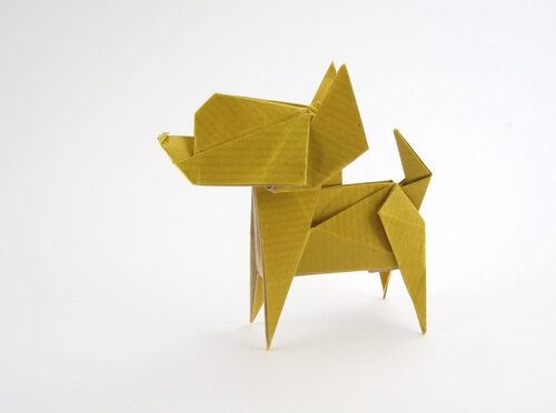 Chihuahua by Fuchimoto Muneji (Press to Buy online this Origami Dog Template)