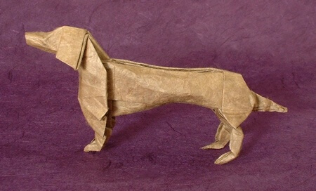 Dachshund by John Montroll (Press to Buy online this Origami Dog Template)