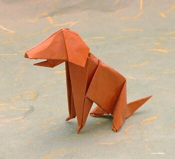 Dog by John Montroll (Press to Buy online this Origami Dog Template)