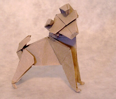 Dog by Nicolas Terry (Press to Buy online this Origami Dog Template)