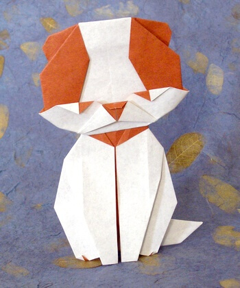 Dog by Taichiro Hasegawa (Press to Buy online this Origami Dog Template)