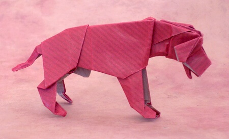 Dog (Tosa) by Seiji Nishikawa (Press to Buy online this Origami Dog Template)