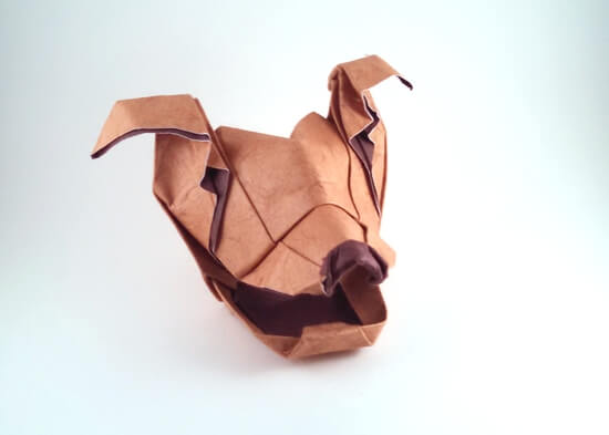Dog head by Lan Ying (Press to Buy online this Origami Dog Template)