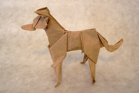 Evie by Jason Ku (Press to Buy online this Origami Dog Template)