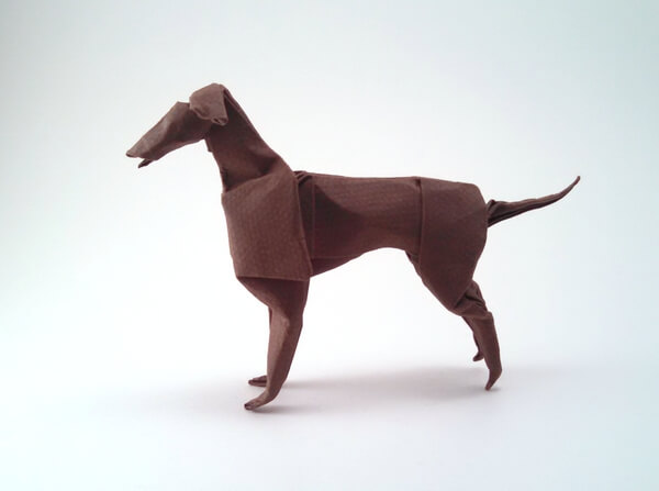 Greyhound by John Montroll (Press to Buy online this Origami Dog Template)